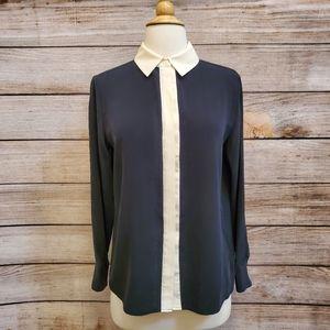 Grana Black & Cream Chinese Silk Buttondown Shirt